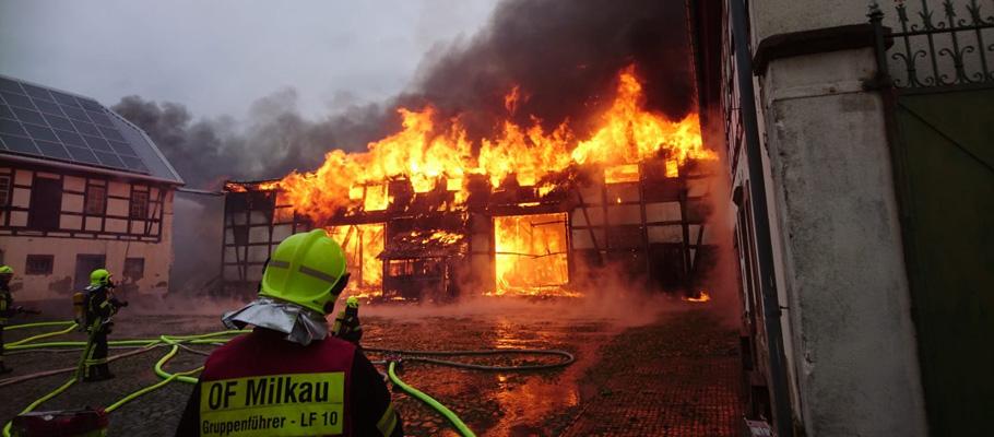 Großbrand in Sachsendorf