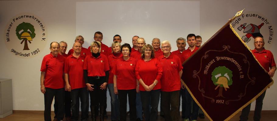 Mitglieder des Milkauer Feuerwehrvereins e.V.